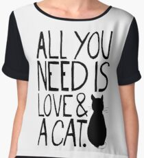 All You Need Is Love and A Cat Women's Chiffon Top