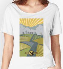 Camiseta ancha para mujer Cartel de ciclismo Retro Vlaanderen