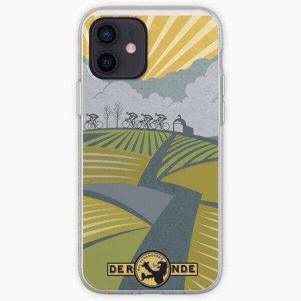 Retro Vlaanderen cycling poster iPhone Soft Case