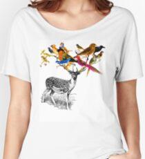 DEER BIRDY Women's Relaxed Fit T-Shirt