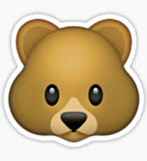 Emoji Bear Sticker