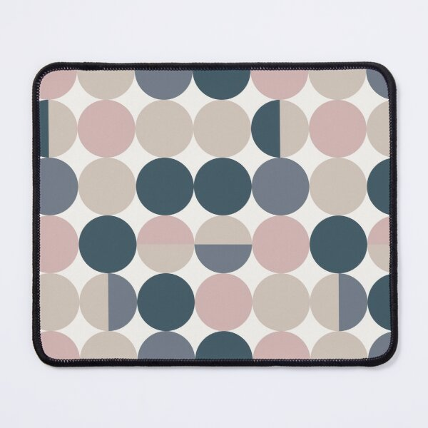 Abstract navy print Mouse Pad