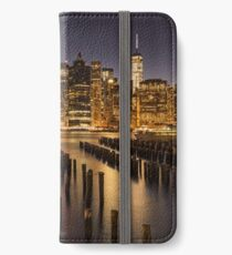 New York City Skyline at twilight iPhone Wallet/Case/Skin