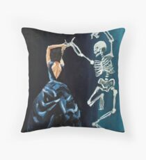 Death and the Maiden IX Throw Pillow