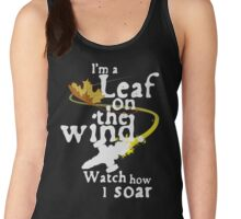 Leaf on the wind (white text) Women's Tank Top