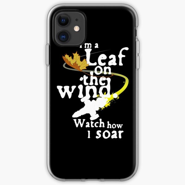 Leaf on the wind (white text) iPhone Soft Case