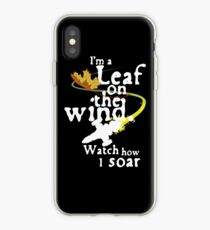 Leaf on the wind (white text) iPhone Case