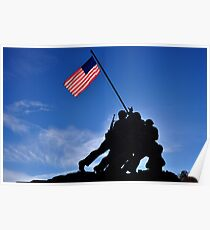 The United States Marine Corps War Memorial (Iwo Jima Memorial) Poster