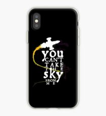 You can't take the sky from me - white text variant iPhone Case