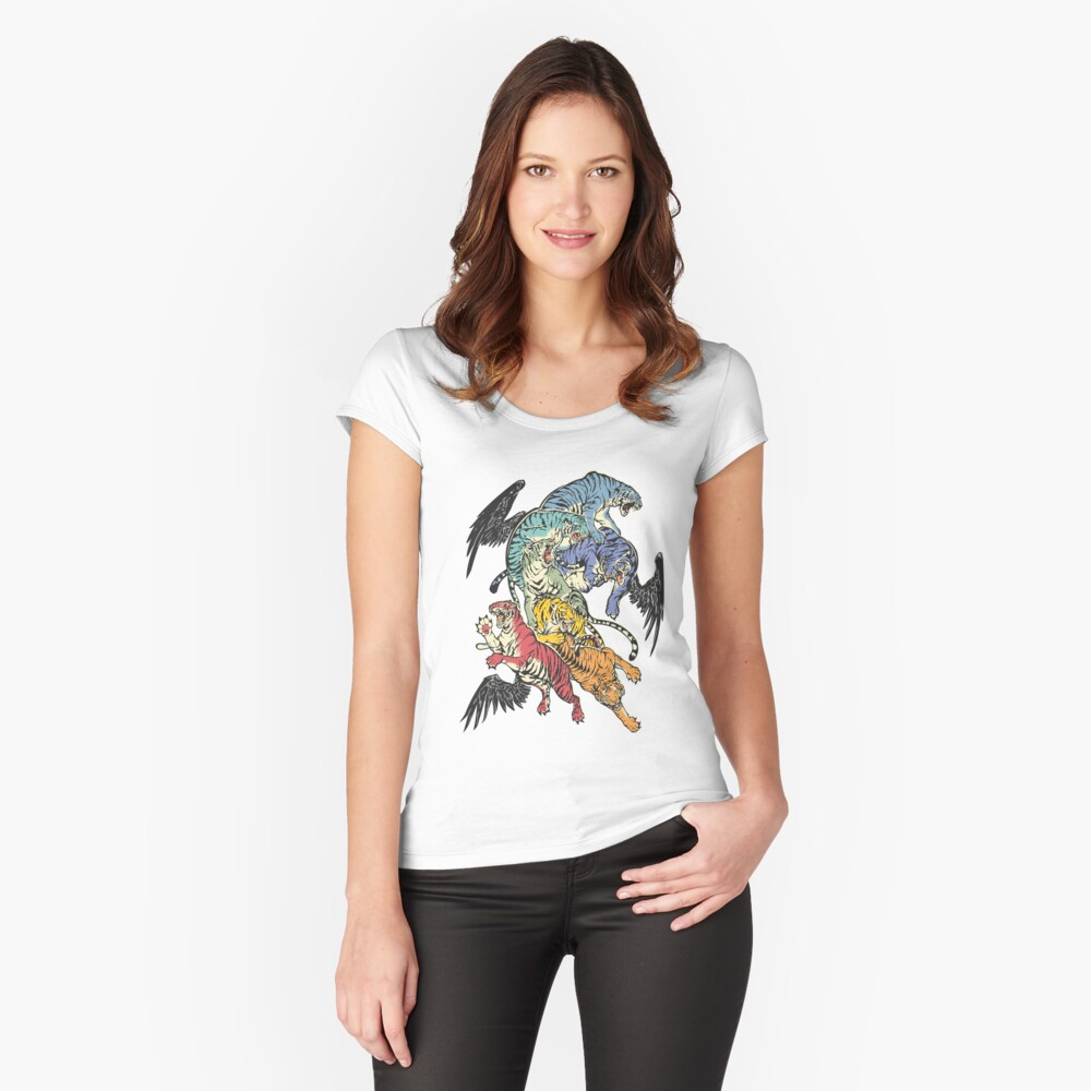 Seven Caged Tigers Fitted Scoop T-Shirt