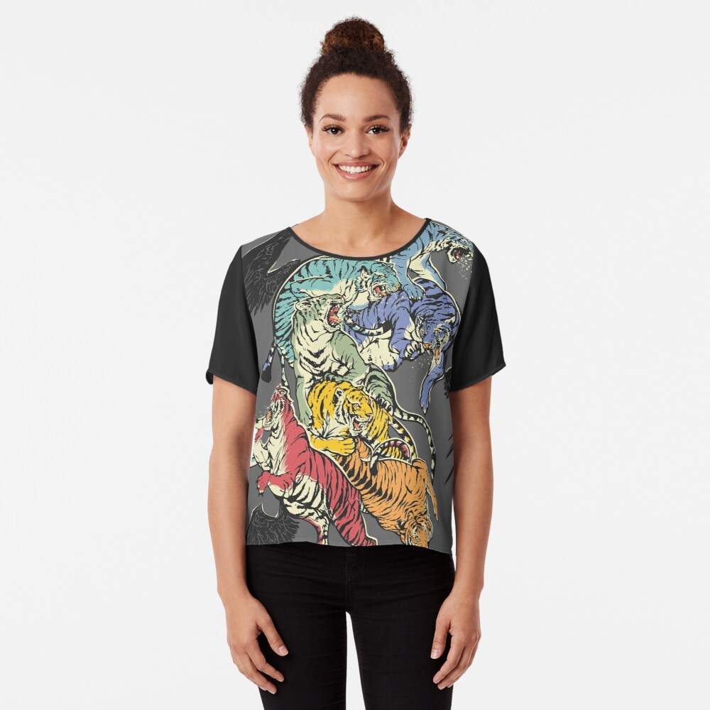 Seven Caged Tigers Chiffon Top