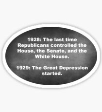 The Republican Depression Sticker