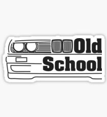 E30 Old School - Schwarz Sticker