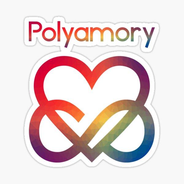 Polyamory Infinity Heart Sticker
