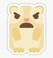 Emoji Guinea Pig with Angry and Mean Face Sticker