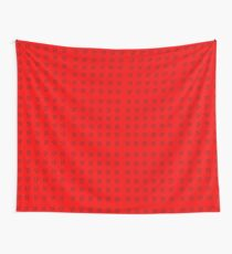 Pikachu Red Pattern Wall Tapestry