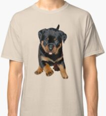 Cute Female Rottweiler Puppy Running Classic T-Shirt
