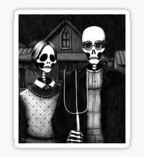 Skeleton (Even More) Gothic Sticker
