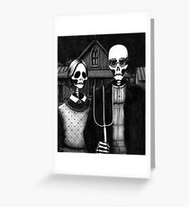 Skeleton (Even More) Gothic Greeting Card