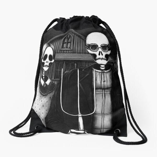 Skeleton (Even More) Gothic Drawstring Bag