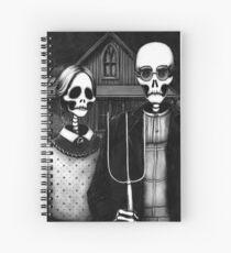 Skeleton (Even More) Gothic Spiral Notebook