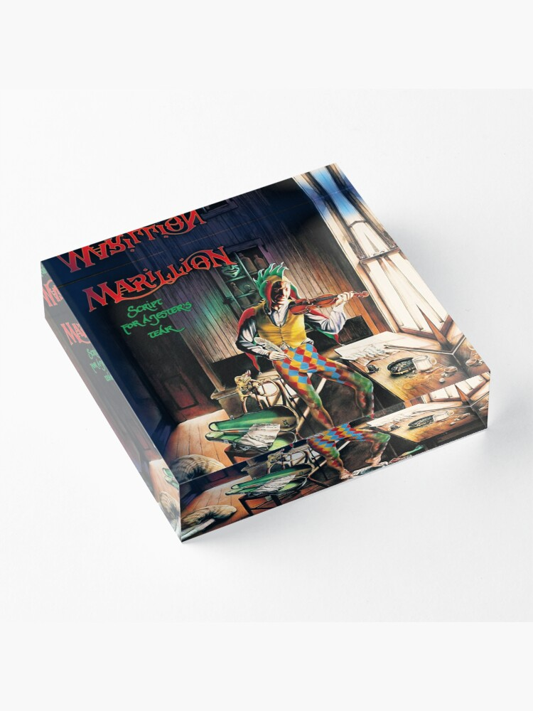 Alternate view of Marillion: Script For A Jester's Tears Acrylic Block