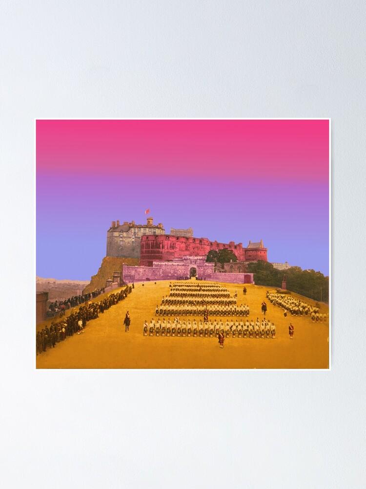 Alternative Ansicht von Edinburgh Schloss Esplanade Schottland Poster