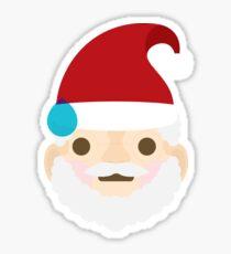 Emoji Christmas Santa Big Sweat Sticker