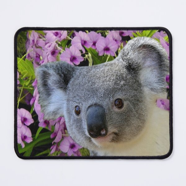 Koala and Orchids Mouse Pad