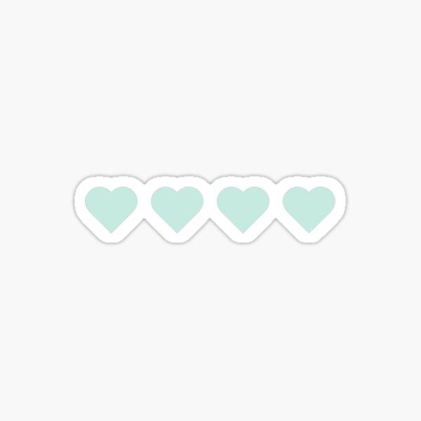4 Tiffany Blue Hearts Sticker