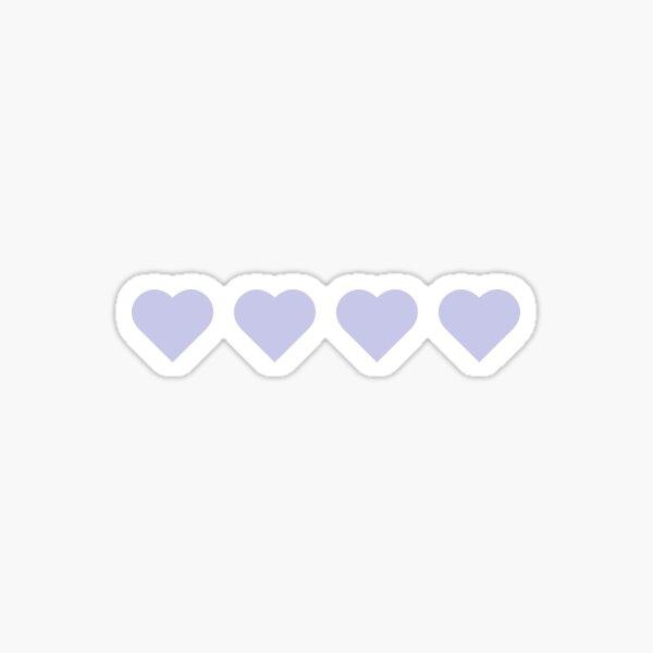 4 Purple Hearts Sticker