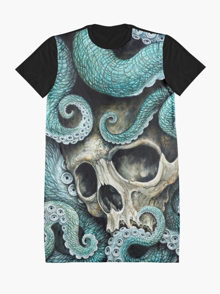 Alternate view of please love, don't die so far from the sea Graphic T-Shirt Dress