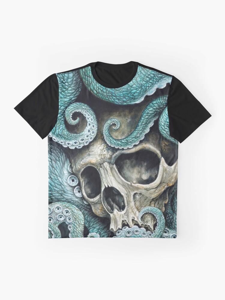 Vista alternativa de Camiseta gráfica por favor amor, no mueras tan lejos del mar