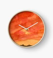 Wüste bei Sonnenuntergang Uhr