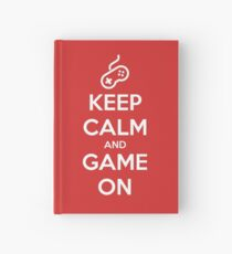 Keep Calm And Game On Hardcover Journal