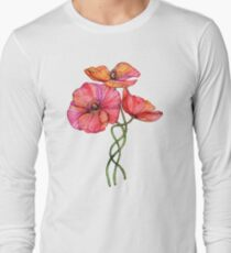 Peach & Pink Poppy Tangle T-Shirt