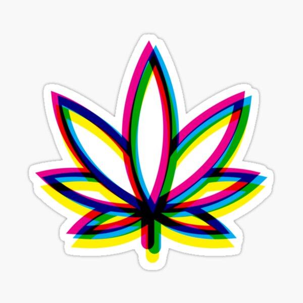 Hoja borrosa de marihuana Pegatina