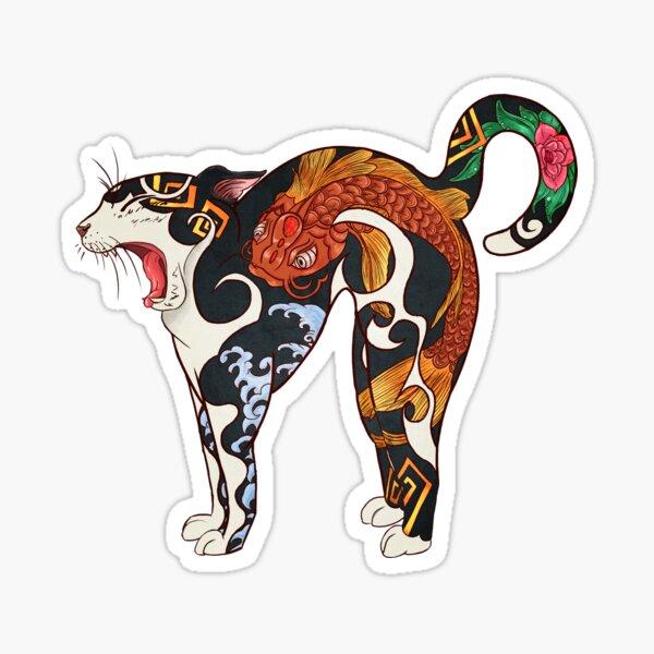 Monmon japan cat Sticker