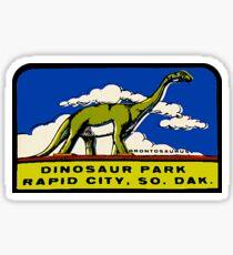 Dinosaur Park South Dakota Vintage Travel Decal Sticker
