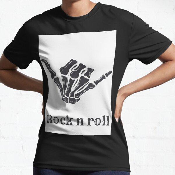 Rock n roll, happy Halloween. Active T-Shirt