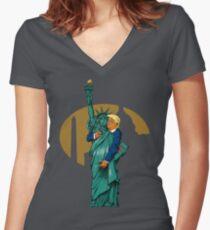 'Merica! Women's Fitted V-Neck T-Shirt