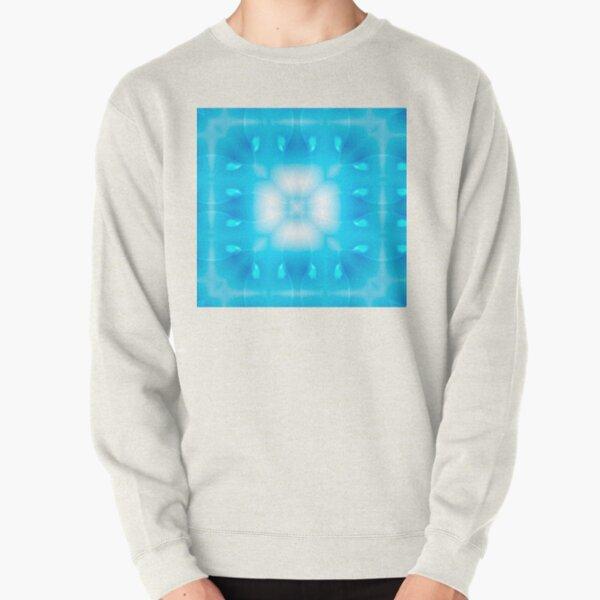Mystical cross on a light blue background. Strength of Christians Pullover Sweatshirt