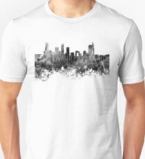 Beijing skyline in black watercolor on white background T-Shirt