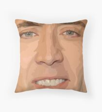 Nicholas Cage Drawing. Throw Pillow