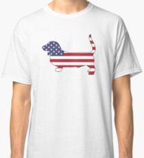 American Flag – Basset Hound Classic T-Shirt