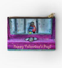 """ Window Hug""  Valentine's Day Card Studio Pouch"