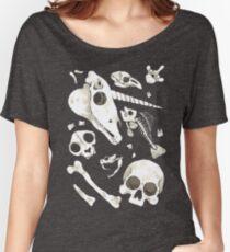 black Skulls and Bones - Wunderkammer Women's Relaxed Fit T-Shirt