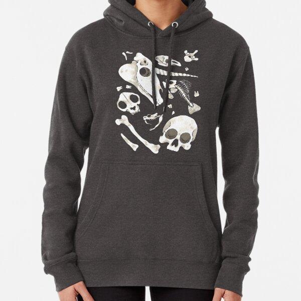 black Skulls and Bones - Wunderkammer Pullover Hoodie