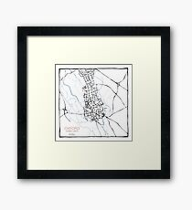 Oxford (blue) Framed Print