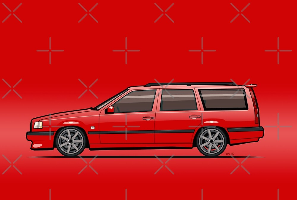 Volvo 850R 855R T5R Wagon Red by Tom Mayer